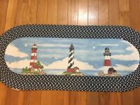 Lighthouse Braided Nautical Seaside Kitchen Floor Runner Accent Rug Decor