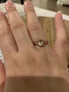 Morganite-Ring-Rose-Gold-Plated-Size-7-5