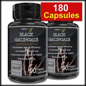 180-Capsules-BLACK-GALINGALE-Libido-NATURAL-Male-Enhance-Sex-Drive-Ginseng
