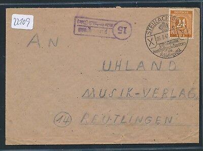 Ddr ZuverläSsig 22109 Landpost Ra2 15 Spechtsbrunn über Steinach Brf Owst 1947 thür.