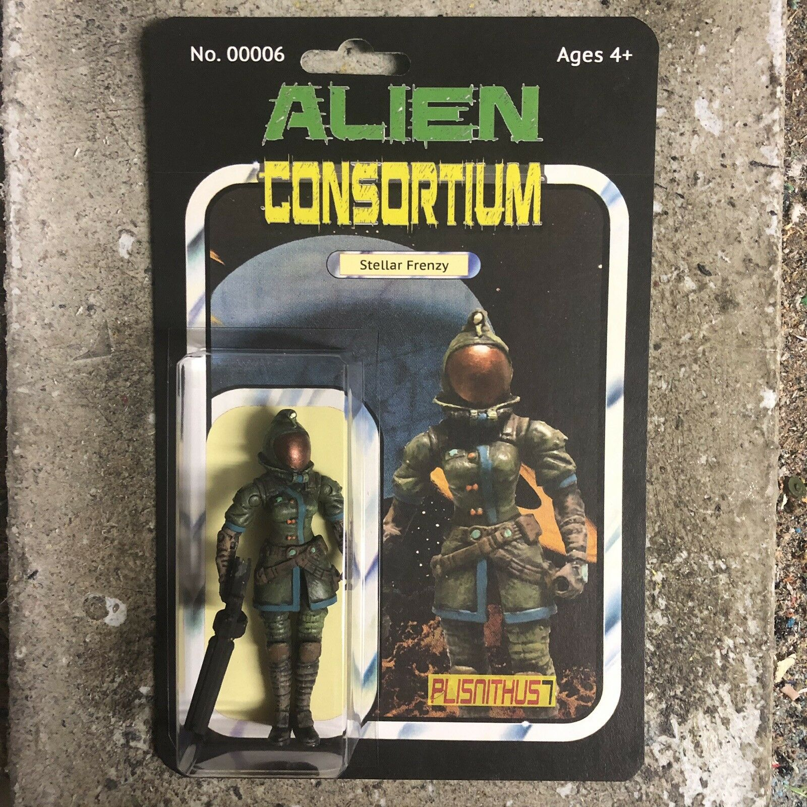 Alien - konsortium - raserei 3,75  action - figur star force alien - krieg