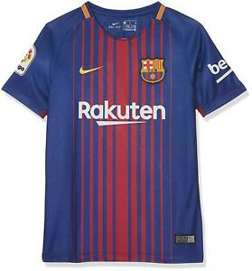 meet 635c8 bfdd4 Details about Barcelona Football Shirt Home Kids Royal/Red 100% Official  Nike FCB 2017-18