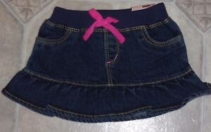 Humor New Girls' Clothing (newborn-5t) Oshkosh B'gosh ~ Baby Girls Size 12 Months ~ Skort ~ Panty Lined Skirt Nwt
