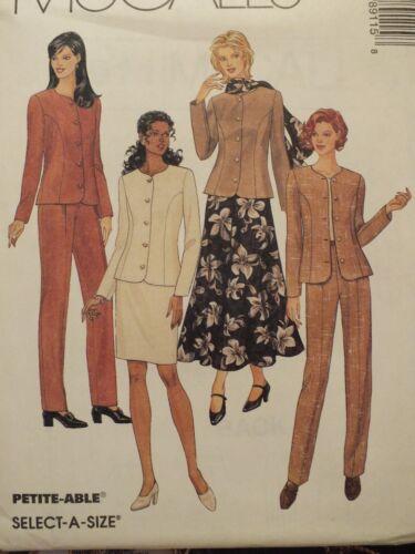 OOP McCALLS 8911 Jacket Pants Skirts Scarf PATTERN 8-10-12-14-16-18-20-22-24 UC