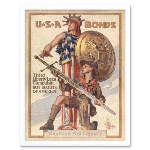 Propaganda de guerra de Vietnam proteger patria soldado 12X16 pulgadas impresión arte enmarcado