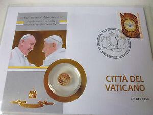 1 Sede Vacante Numisbrief 2013 Avec La 10 Euro Or Pièce De Monnaie-afficher Le Titre D'origine
