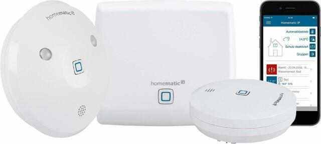 Starter Set Wasseralarm Weiss, Überwachung, Alarm,App, Feuchtugkeit,