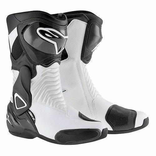 Alpinestars SMX 6 Boots SMX-6 SM-X 6 Motorcycle Motorbike Mens Black White 48 13