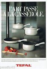 PUBLICITE ADVERTISING 126  1986   les casseroles décor gris Tefal