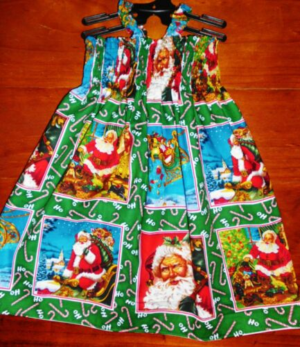 SZ 4 SPECIALTY CHRISTMAS COTTON SHIRRED TOP DRESS ALL NEW