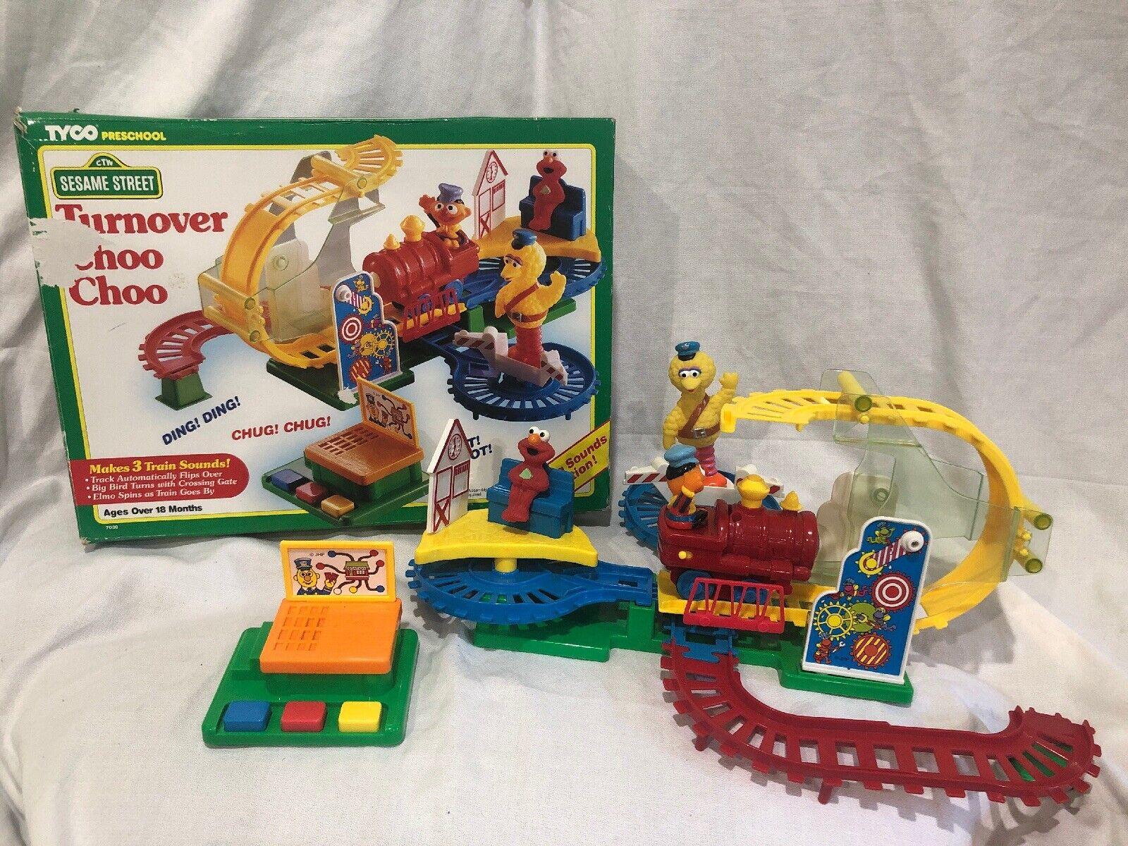 Vintage Tyco Preschool 1993 Sesame Street Turnover Choo-Choo w Ernie as Engineer