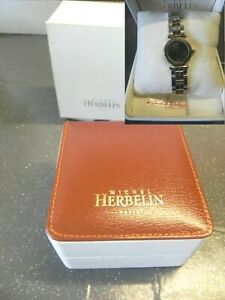 Montre-Michel-Herbelin-Newport-Yatch-Bracelet-metallique-bicolore-femme