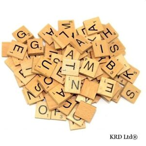 Image Is Loading A To Z Wooden Scrabble Tiles Letter