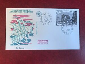 TAAF-FSAT-FRENCH-ANTARCTIC-1979-1980-FDC-SHIP-LE-TERROR-ARCHED-ROCK-01
