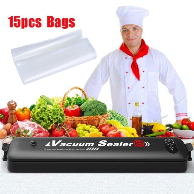 Automatic Food Saver Vacuum Sealer Packing Meal Storage Sealing Machine w// Bags
