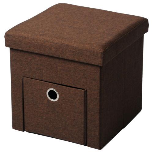 Sitzhocker faltbarer Sitzbank Sitzwürfel mit Schublade Aufbewahrungsbox 38L e220
