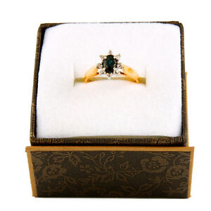 10k Yellow gold saphire ring R-93