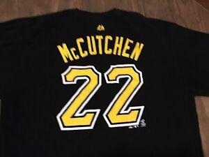 Andrew-McCutchen-22-Pittsburgh-Pirates-Black-XL-T-Shirt-MLB-Majestic