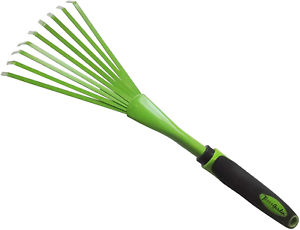 Tierra Garden 35-1823 Carbon Steel Shrub Rake with TPR Soft-Grip Handle