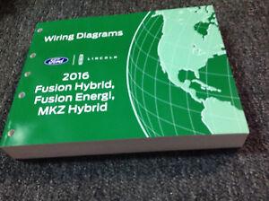 2016    Ford       Fusion    Hybrid Energi      Lincoln       MKZ    Electrical Wiring    Diagram    Manual   eBay