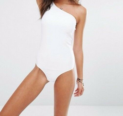 First and and and I One Shoulder White Swimsuit  NEW SZ XL SOLD OUT  FREE US SHIPPING 324d9a