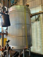 600 Gallon 304 Stainless Steel Cone Bottom Tank Vessel With Agitator