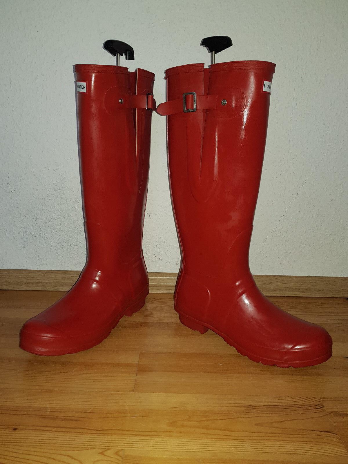 Grandes zapatos con descuento HUNTER Original Adjustable Gummistiefel 7 = 40 - 41 Rot sehr selten Latex NEU
