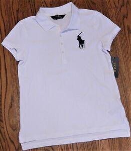 Details about POLO RALPH LAUREN AUTHENTIC GIRLS BRAND NEW WHITE DRESS T-SHIRT Sz L (12-14) NWT