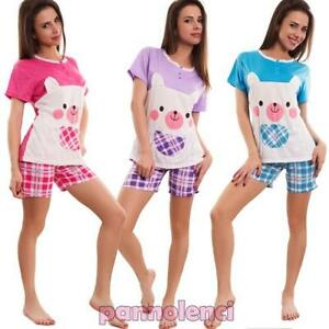 Women s pajamas lingerie set t-shirt shorts scottish shorts new 7103 ... 4dec265e5