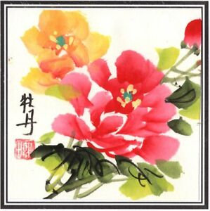 Chinese-Miniature-Floral-Brush-Painting-Handmade-Watercolor-Ethnic-Flower-Art