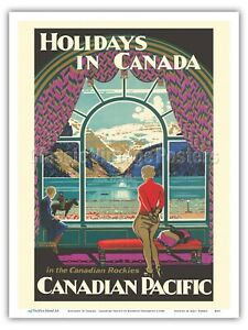 Travel Print Retro TENNIS Poster Canad CANADIAN PACIFIC Cruise Travel Poster