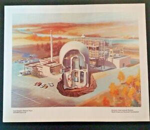Fast Breeder Reactor Plant Electrical Nuclear North American Rockwell Print