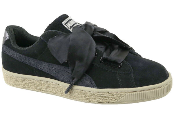 27f4ebba683 Womens PUMA Suede Heart Black Metallic Safari Trainers Shoes UK 7 for sale  online