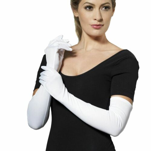 Ladies Long Elbow Glamour Gloves 20/'s Evening Prom Forearm Fancy Dress 52 cm