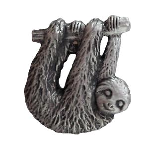 Sloth Pewter Pin Badge