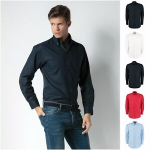 148ffa78f5d Mens Long Sleeve Oxford Shirt Business Work Smart Formal Casual ...