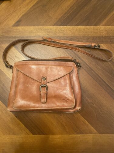 Patricia Nash Brown Leather Crossbody Used