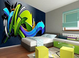 Graffiti background wall mural photo wallpaper giant decor for Poster mural 4 murs