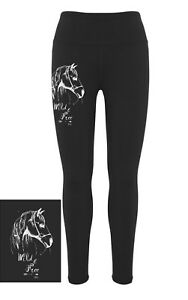 HEELS-DOWN-CLOTHING-EQUESTRIAN-PERFORMANCE-TIGHTS-034-WILD-AND-FREE-034-PRINT