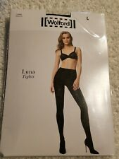 0932701b7 item 5 Wolford Luna Tights (Black Silver) Hose Size Large NWT  75 -Wolford  Luna Tights (Black Silver) Hose Size Large NWT  75