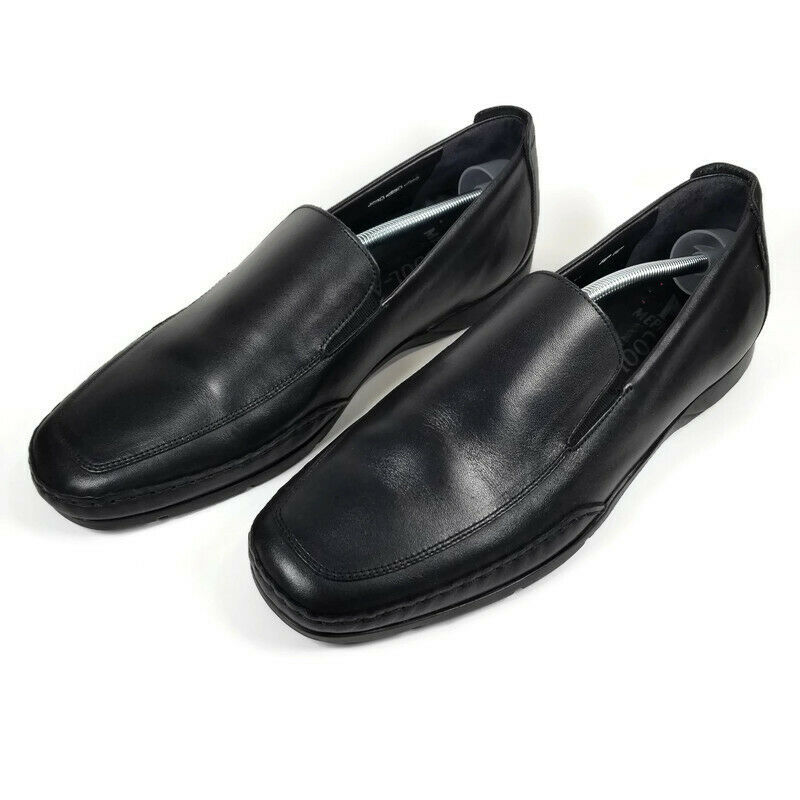Mephisto Edlef Mens Size US 12 Cool Air Loafers Black Leather Slip On Shoes
