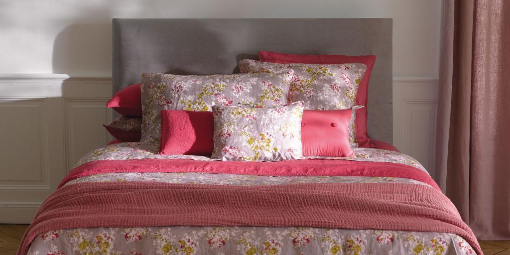 NWT NEW Yves Delorme Sieste Sorbet Queen flat sheet 94 x 110