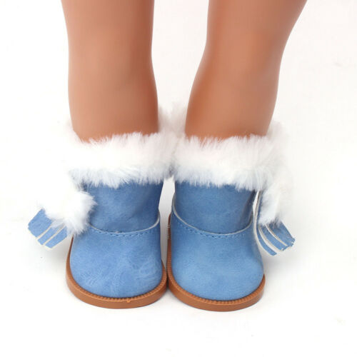 Winter Glitter Doll Shoes For 18 Inch American Girl Doll Accessory Girl/'s Toy