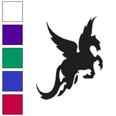 Multiple Patterns /& Sizes Vinyl Decal Sticker ebn513 Flying Horse Pegasus