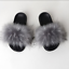 thumbnail 34 - Faux Fur Slides Fuzzy Fluffy Slippers Flat Soft Sandals Open Toe - US Seller