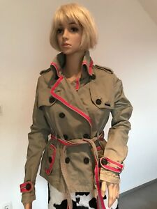 new product 6fd35 ed771 Details zu Original SUPERDRY Damen Trenchcoat Kurzmantel Mantel Gr. M (Gr.  36) - TOP!