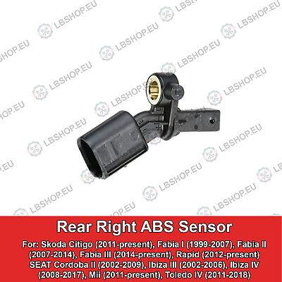 ABS sensor trasera eje trasero derecha seat