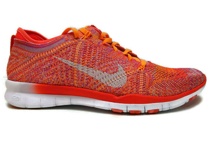 Nike Women's Free Training Flyknit Running shoes Bright Crimson Bright Citrus-9.
