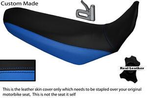 Schwarz-und-blau-Custom-fits-YAMAHA-XT-660-x-04-12-Echt-Leder-Sitzbezug