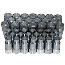 20 Sets Of 12 Flush Face Skid Steer Hydraulic Hose Quick Disconnect Couplers